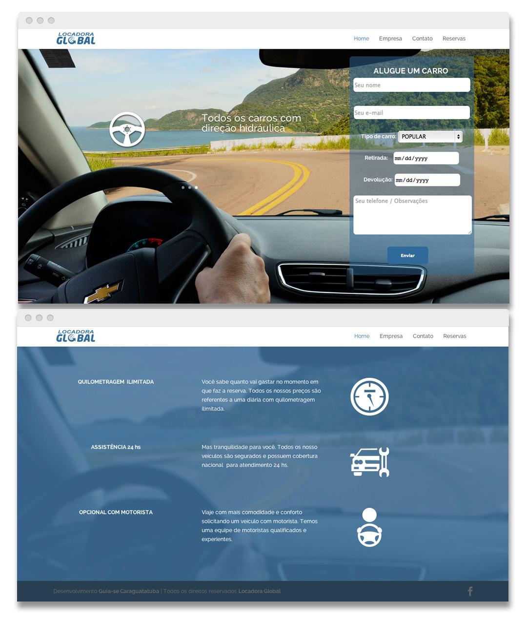 Kaori Yorado Website Design for Locadora Global